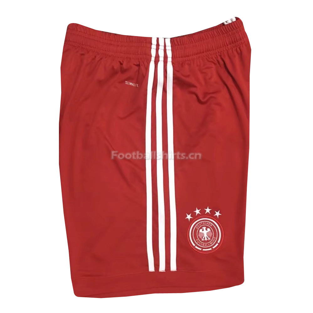 Germany 2018 World Cup Goalkeeper Red Soccer Shorts