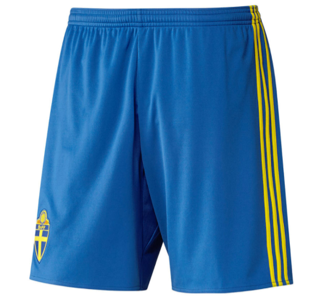 Sweden 2018 World Cup Home Soccer Shorts