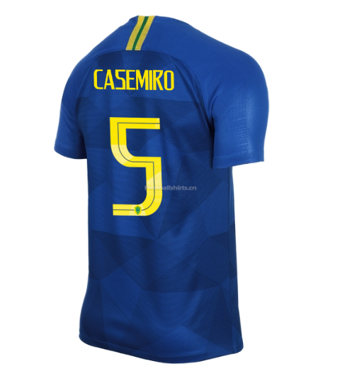 Brazil 2018 World Cup Away Casemiro Soccer Jersey