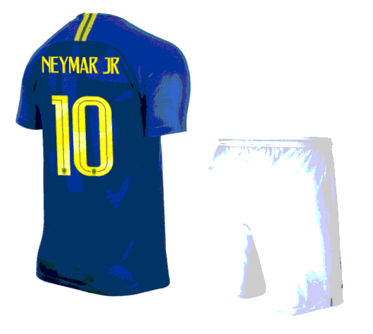 Brazil 2018 World Cup Away Neymar Jr Soccer Jersey Uniform (Shir