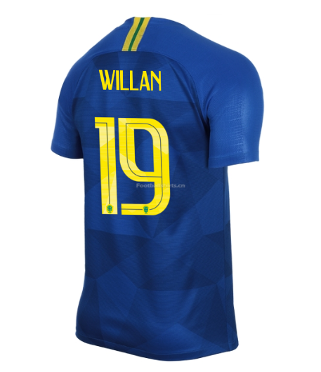 Brazil 2018 World Cup Away Willian Borges Soccer Jersey