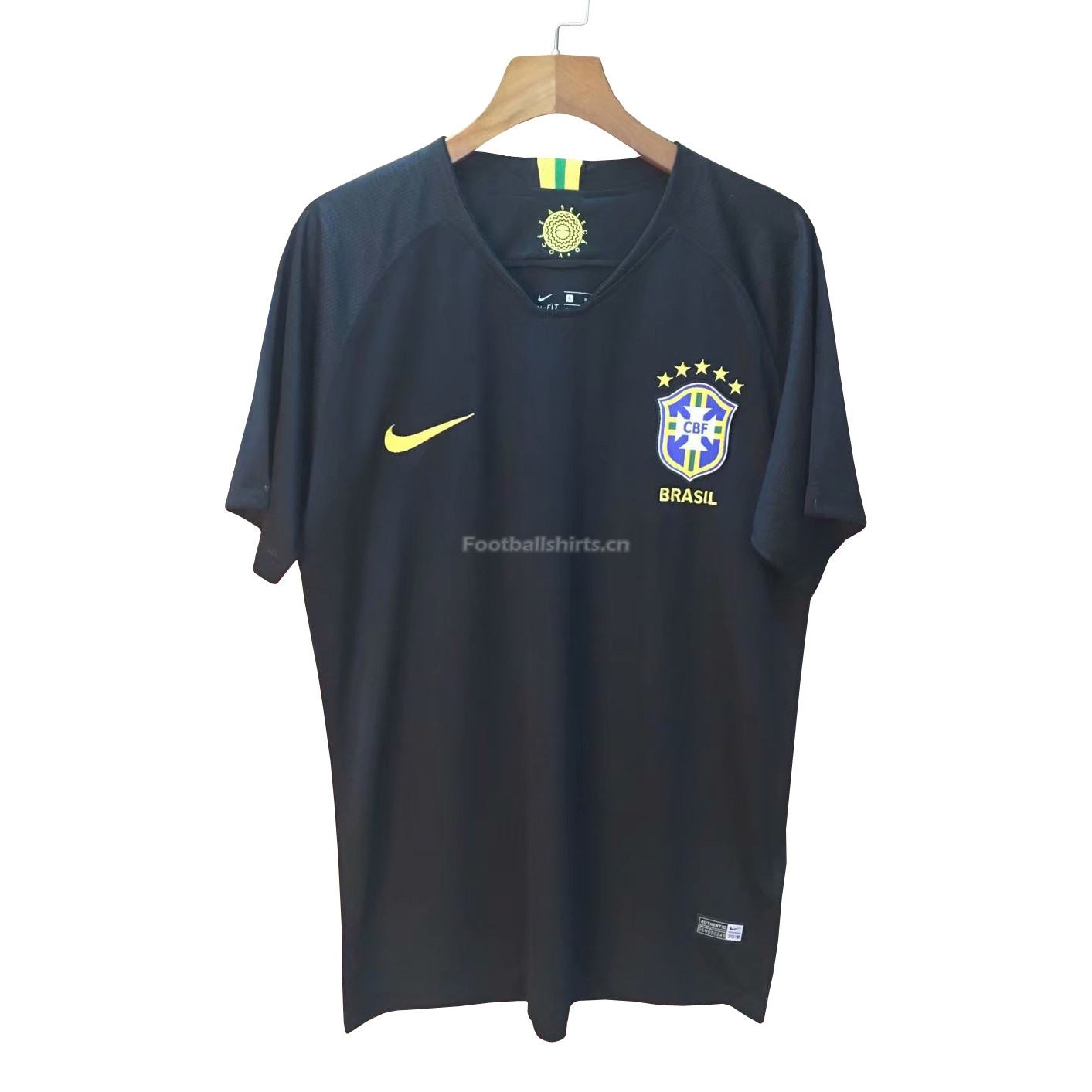 Brazil 2018 World Cup Goalkeeper Shirt Black Soccer Jersey