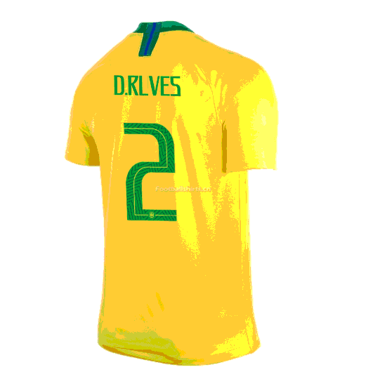 Brazil 2018 World Cup Home D.Rlves Soccer Jersey