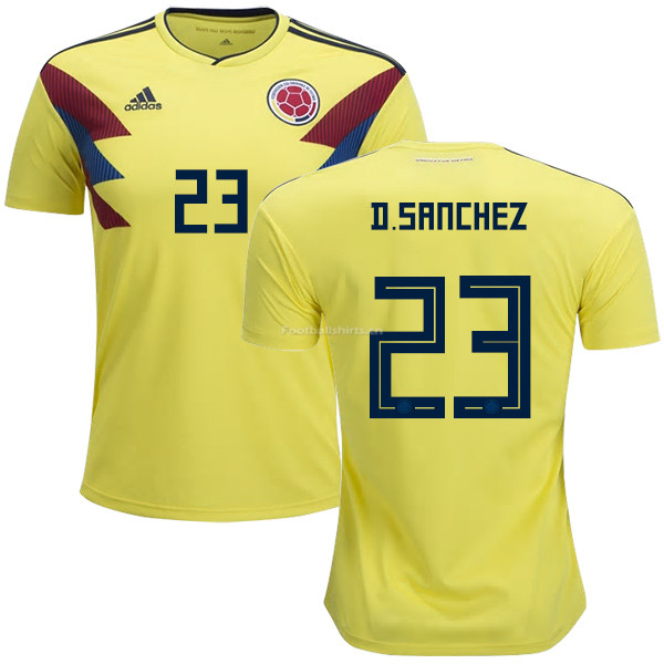 Colombia 2018 World Cup DAVINSON SANCHEZ 23 Home Soccer Jersey
