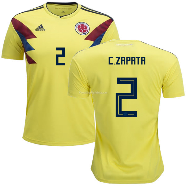 Colombia 2018 World Cup CRISTIAN ZAPATA 2 Home Soccer Jersey