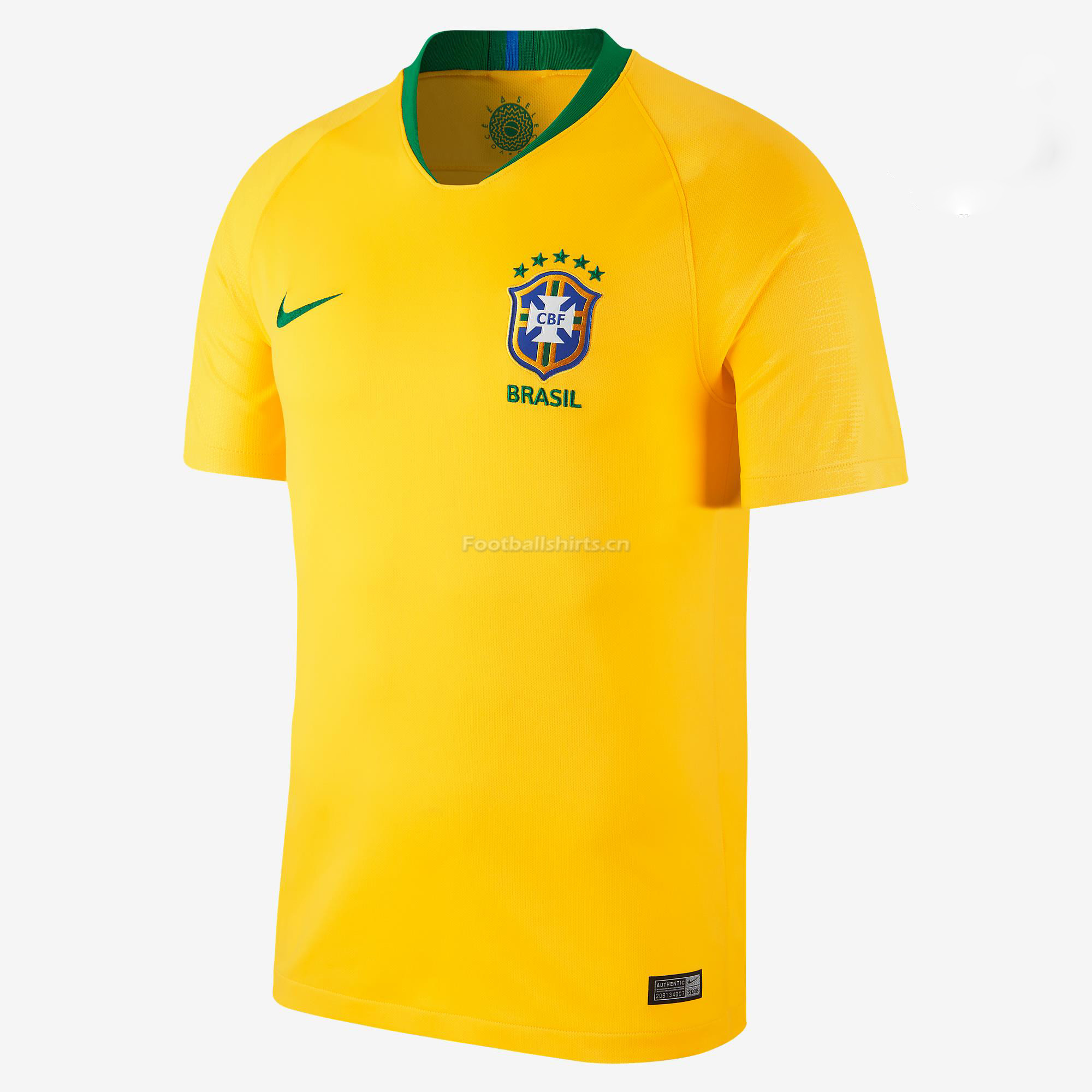Brazil 2018 World Cup Home Soccer Jersey