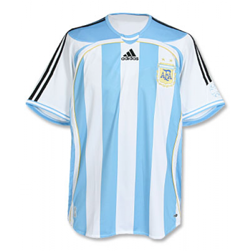 Retro Argentina Home Soccer Jersey 2006