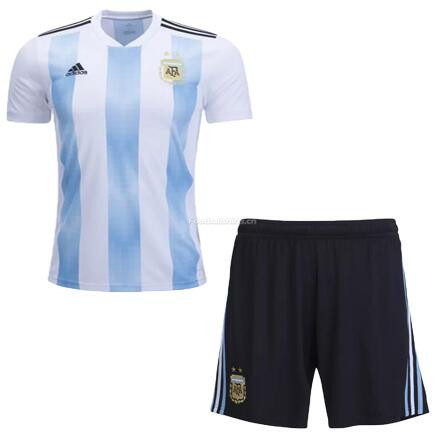 Argentina 2018 World Cup Home Soccer Kits With Shorts