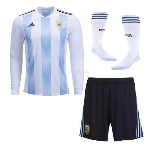 Argentina 2018 World Cup Home LS Soccer Whole Kits