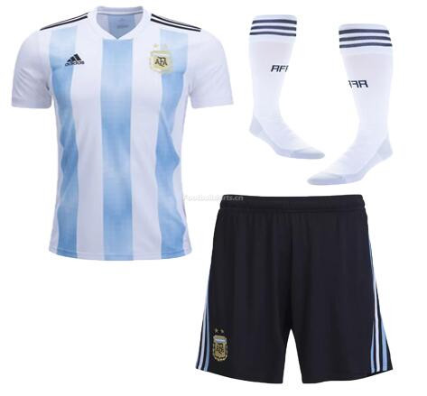 Argentina 2018 World Cup Home Soccer Whole Kits