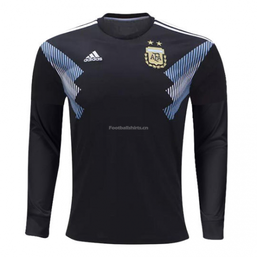 Argentina 2018 World Cup Away Long Sleeve Soccer Jersey