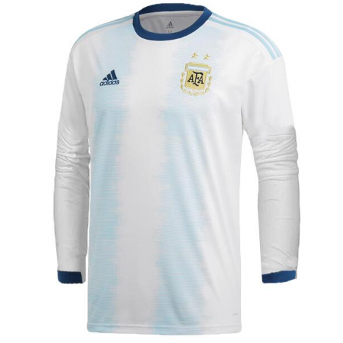Argentina Home Soccer Jersey Long Sleeve 2019 Copa America