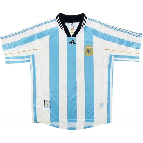 Retro Argentina Home Soccer Jersey 98/99