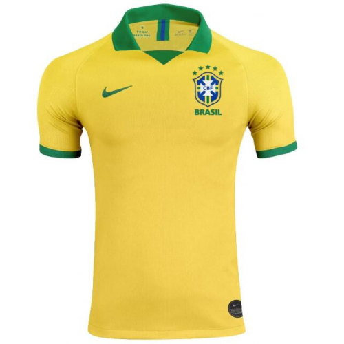 Brazil Home Soccer Jersey Player Version 2019 Copa America