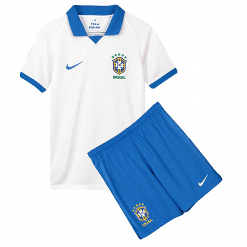 Brazil Away Soccer Kits Children 2019 Copa America