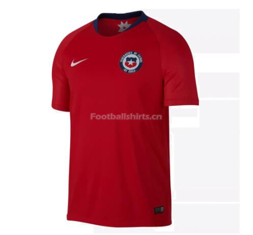 Chile 2018 World Cup Home Soccer Jersey