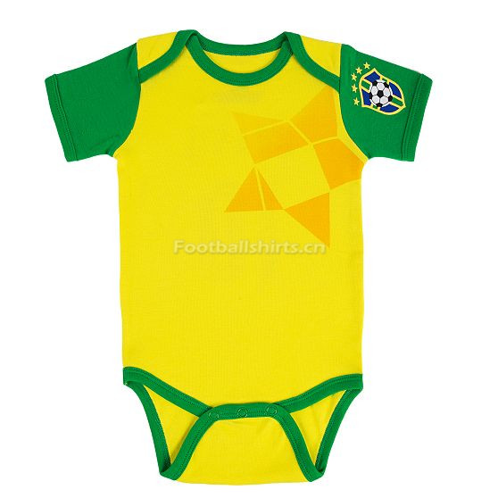 Brazil 2018 World Cup Home Infant Shirt Soccer Baby Suit Rompers