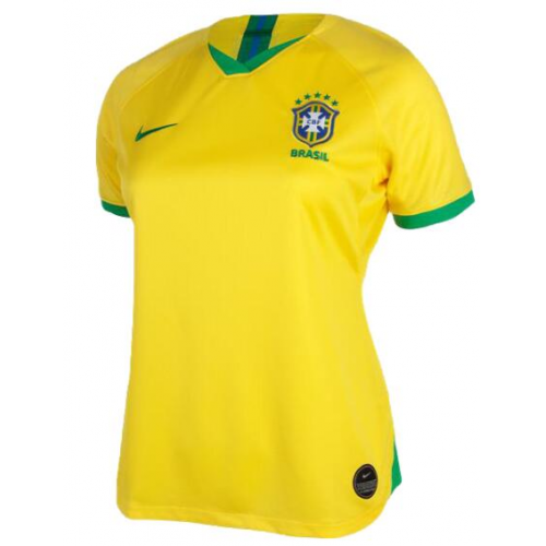 Brazil Home Soccer Jersey Player Version Women 2019 World Cup