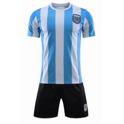 Argentina Retro Classic Custom Home Soccer Kits 1986