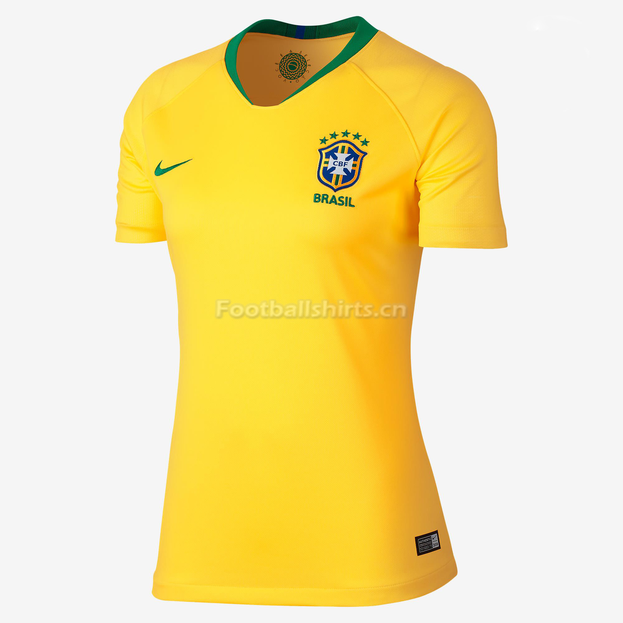 Brazil 2018 World Cup Home Women's Soccer Jersey