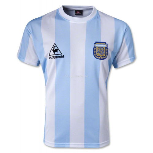 Argentina 1986 Home Retro Soccer Jersey
