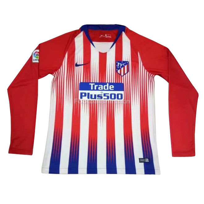 Atletico Madrid Home Long Sleeve Soccer Jersey 2018/19