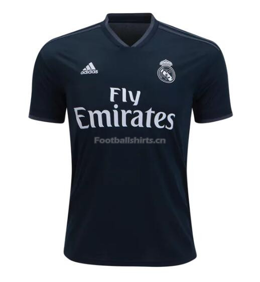 Real Madrid Away Black Soccer Jersey 2018/19
