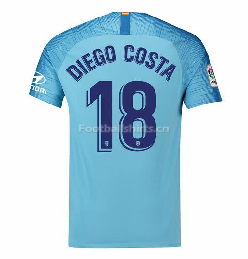 Atletico Madrid Diego Costa 18 Away Soccer Jersey 2018/19
