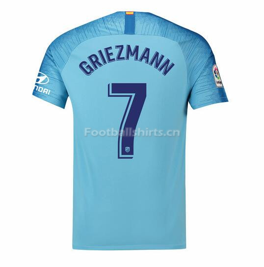 Atletico Madrid Griezmann 7 Away Soccer Jersey 2018/19