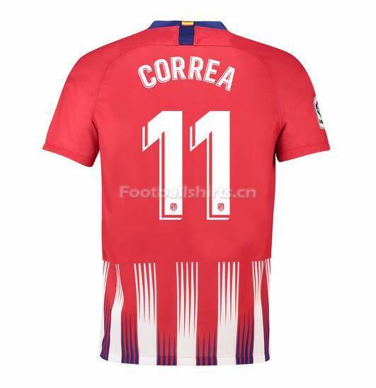 Atletico Madrid Correa 11 Home Soccer Jersey 2018/19