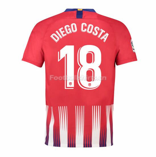 Atletico Madrid Diego Costa 18 Home Soccer Jersey 2018/19