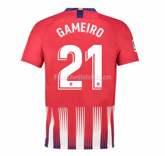 Atletico Madrid Gameiro 21 Home Soccer Jersey 2018/19
