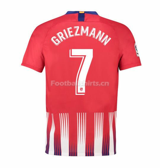 Atletico Madrid Griezmann 7 Home Soccer Jersey 2018/19