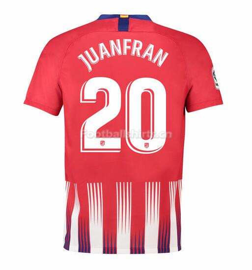Atletico Madrid Juanfran 20 Home Soccer Jersey 2018/19