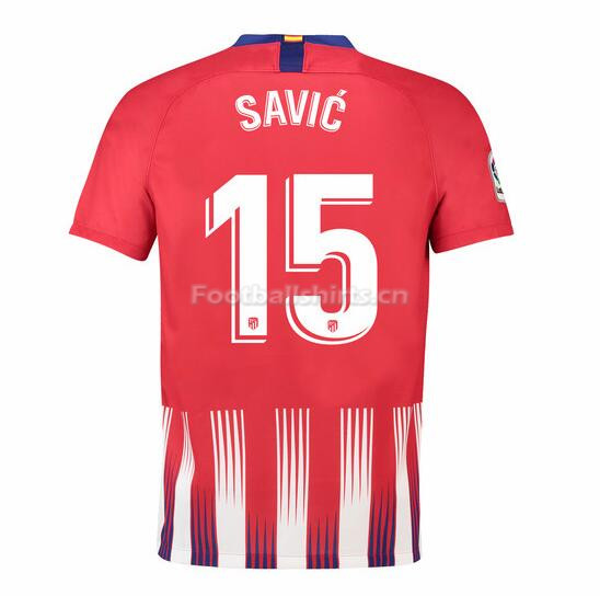 Atletico Madrid Savic 15 Home Soccer Jersey 2018/19