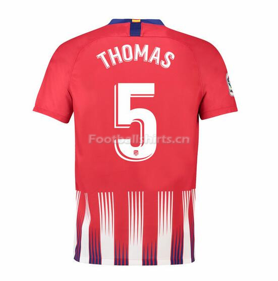 Atletico Madrid Thomas 5 Home Soccer Jersey 2018/19