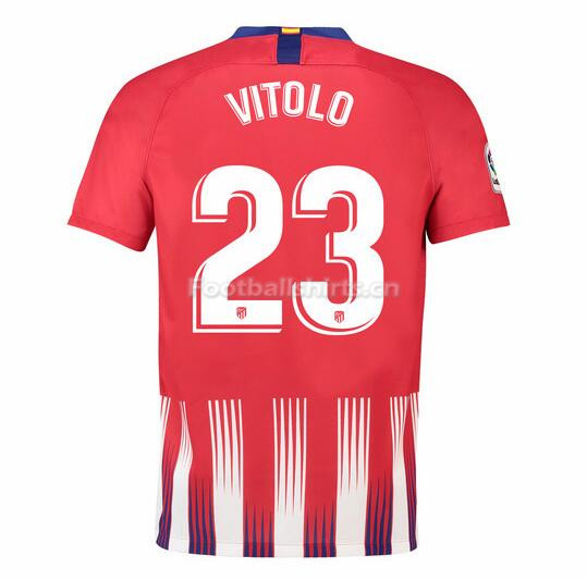 Atletico Madrid Vitolo 23 Home Soccer Jersey 2018/19