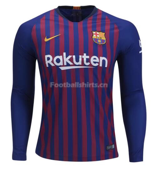 Barcelona Home Long Sleeve Soccer Jersey 2018/19