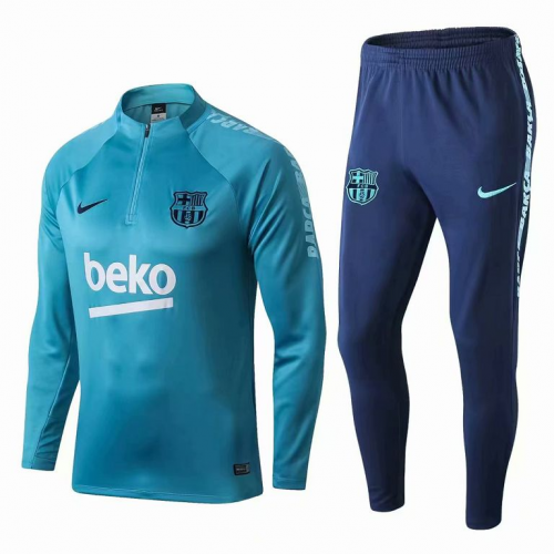 Barcelona Training Top Suits Blue With Sponsor 2019/20