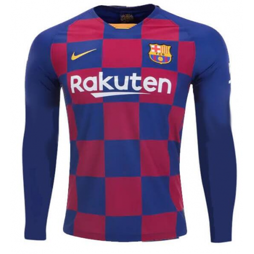 Barcelona Home Soccer Jersey Long Sleeve 2019/20