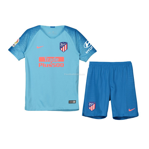 Kids Atletico Madrid Away Soccer Jersey Kit Shirt + Shorts 2018/