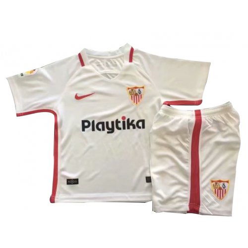 Kids Sevilla Home Soccer Jersey Kit Shirt + Shorts 2018/19