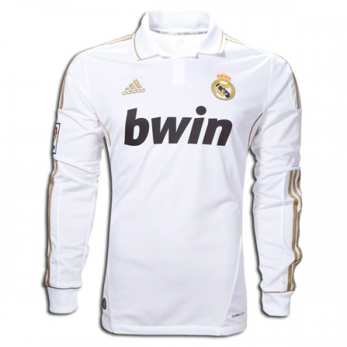 Retro Real Madrid Home Soccer Jersey Long Sleeve 11/12