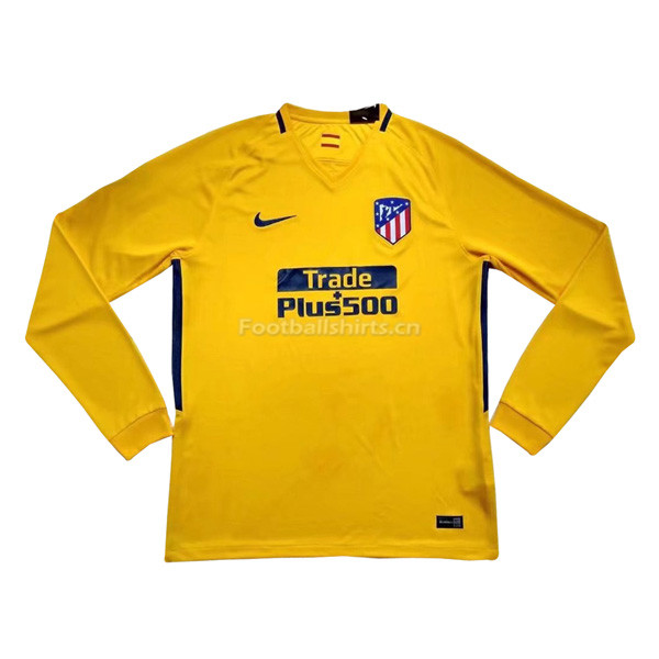 Atletico Madrid Away Long Sleeve Soccer Jersey 2017/18