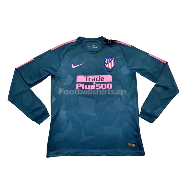 Atletico Madrid Third Long Sleeve Soccer Jersey 2017/18