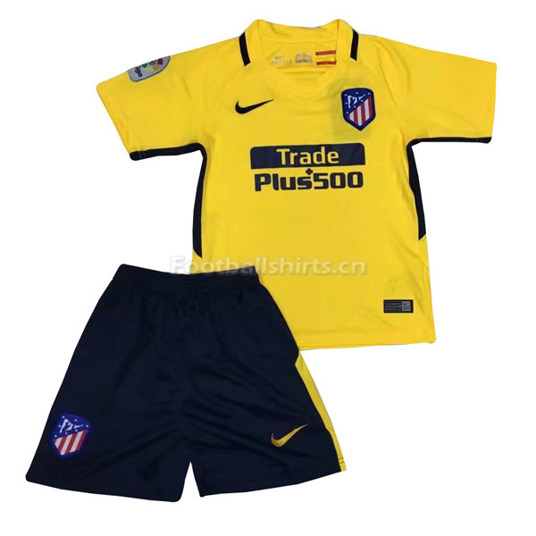 Kids Atletico Madrid Away Soccer Kit Shirt + Shorts 2017/18