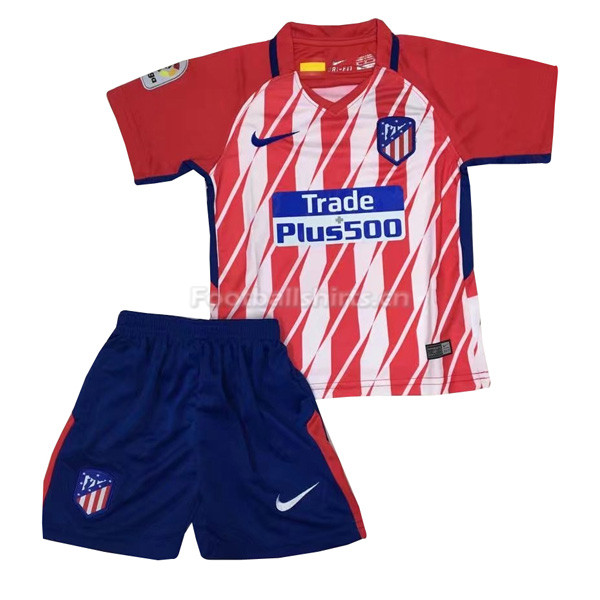 Kids Atletico Madrid Home Soccer Kit Shirt + Shorts 2017/18