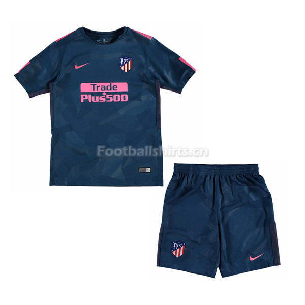 Kids Atletico Madrid Third Soccer Kit Shirt + Shorts 2017/18