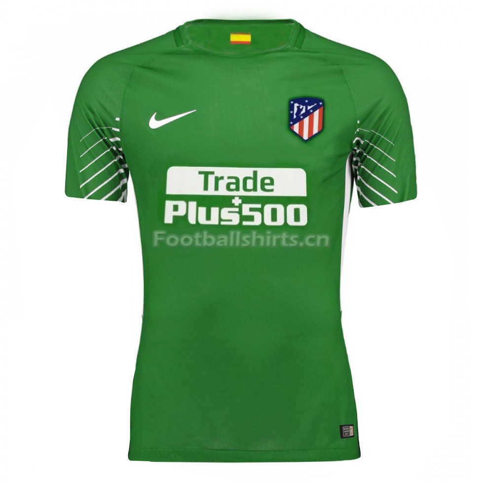 Atletico Madrid Green Goalkeeper Soccer Jersey 2017/18