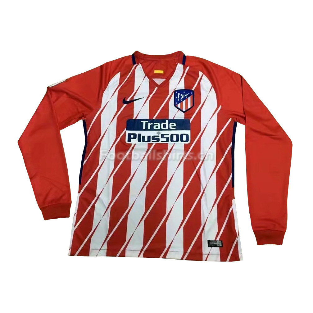 Atletico Madrid Home Long Sleeve Soccer Jersey 2017/18